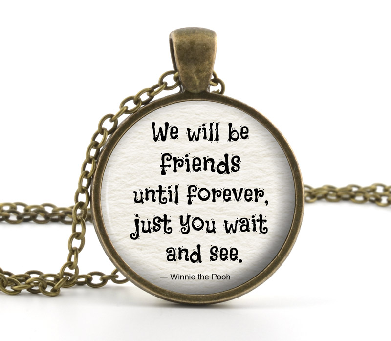 Friendship Pendant Necklace Friendship necklace winnie the pooh jewelry winnie the pooh friendship necklace winnie the pooh jewelry winnie the pooh quote necklace pooh quote pendant necklace pooh bear necklace audiocablefo